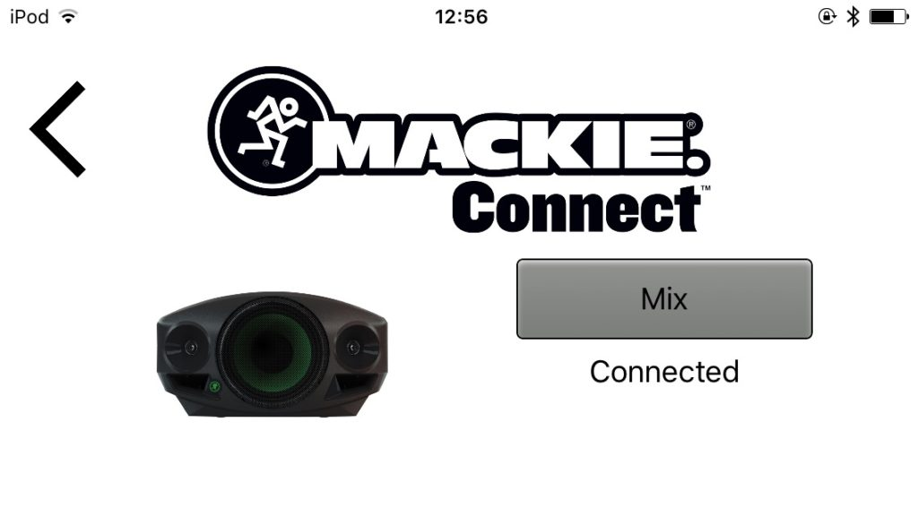 mackie connect 接続画面